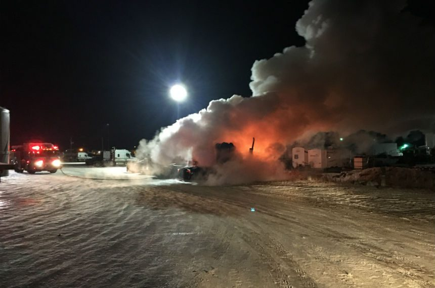 Truck yard fire causes 200K in damage