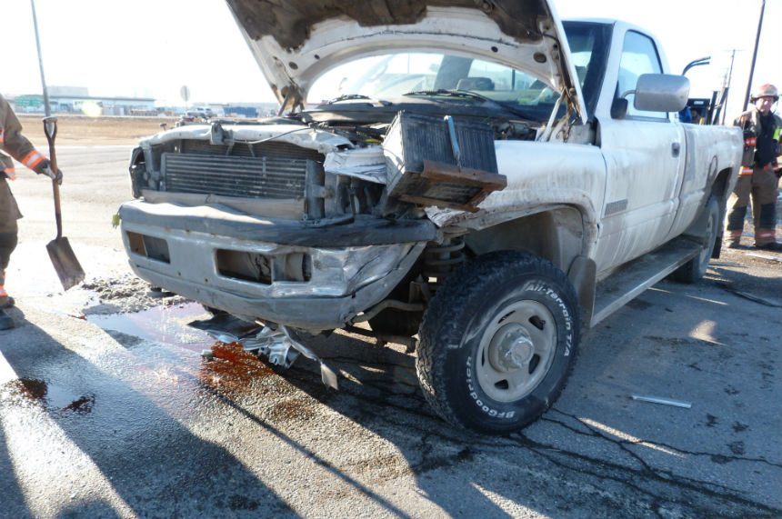 2 sent to hospital in crash on Highway 11