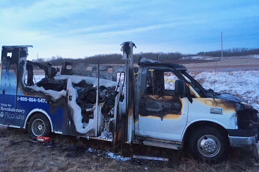 Stubborn vehicle blaze challenges volunteer firefighters