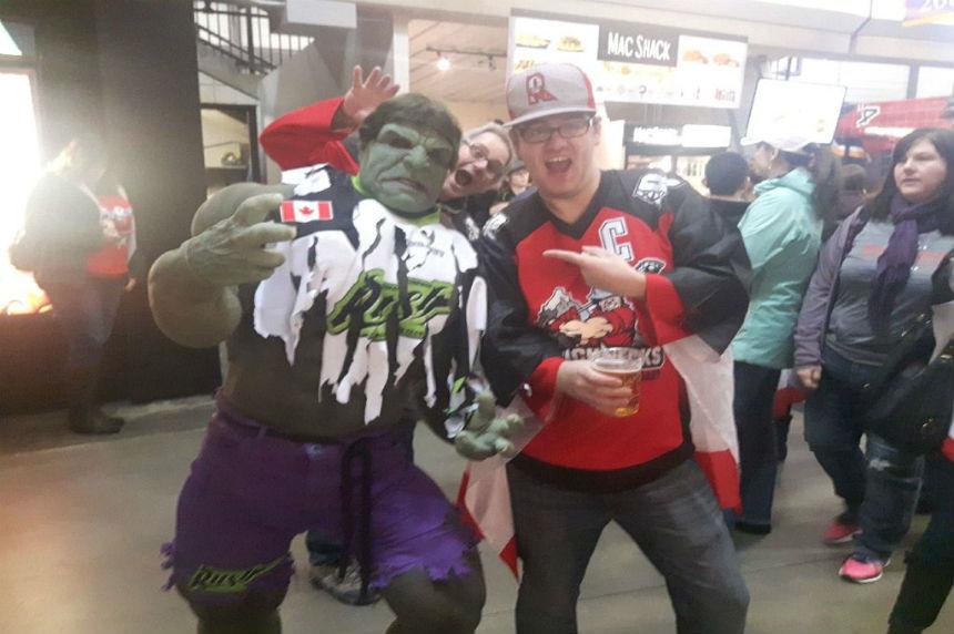 Roughneck fans embrace the Rush Hulk