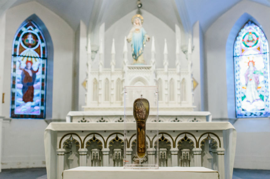 Religious relic national pilgrimage stops in Saskatoon