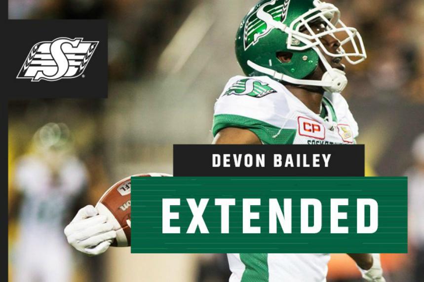 Riders extend Canadian receiver Devon Bailey