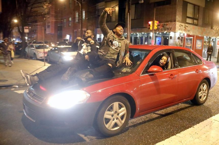 Philadelphia cleaning up after some celebrations turn unruly