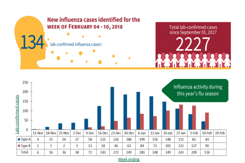 Saskatchewan flu numbers nearly double in last month