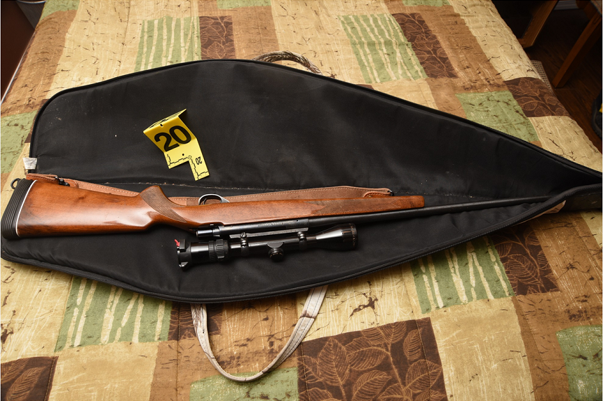 Two firearms were found in a bedroom in Gerald Stanley's home. (RCMP)