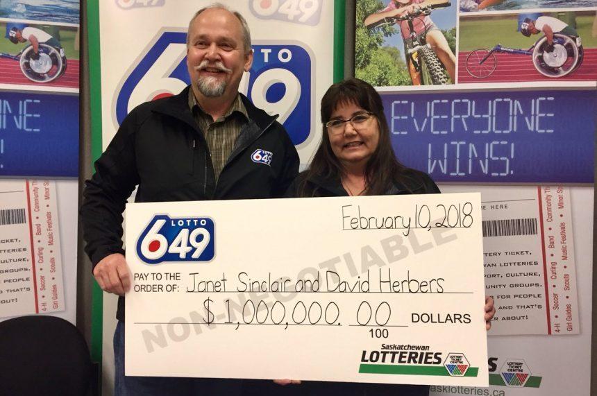 Saskatoon couple wins $1M lottery prize