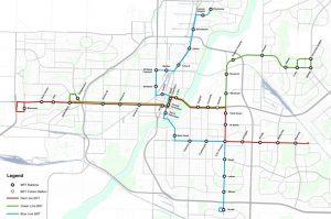 Bus Rapid Transit map