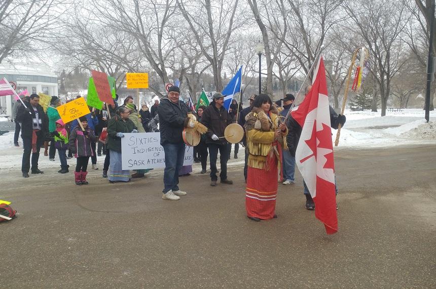 '60s Scoop survivors talk lost identity at Saskatoon rally