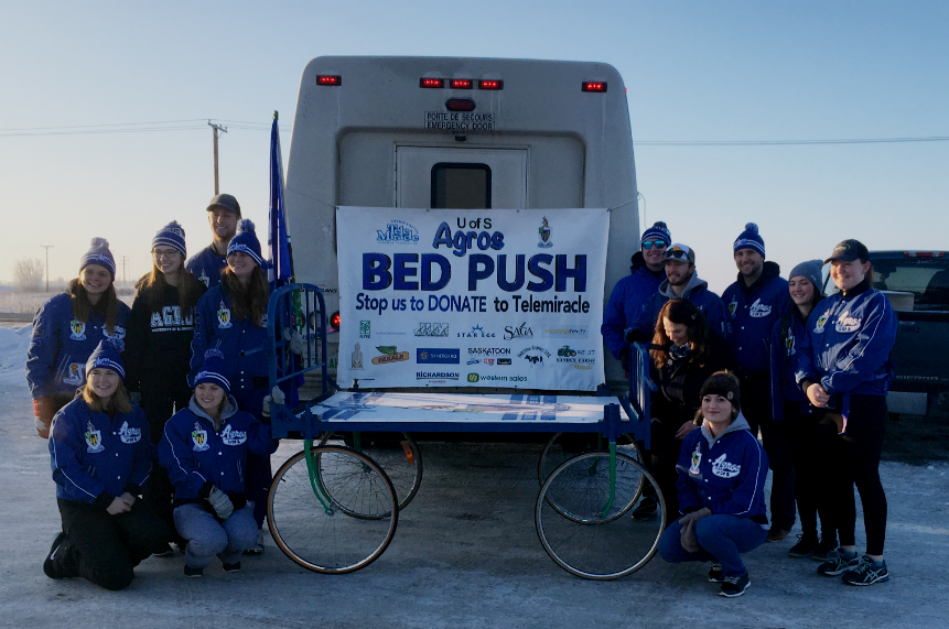 Agros start fundraising bed push for Telemiracle 42