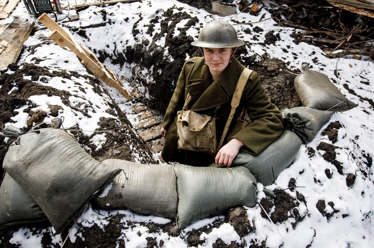 Teen sleeps in backyard First World War trench for school social studies project