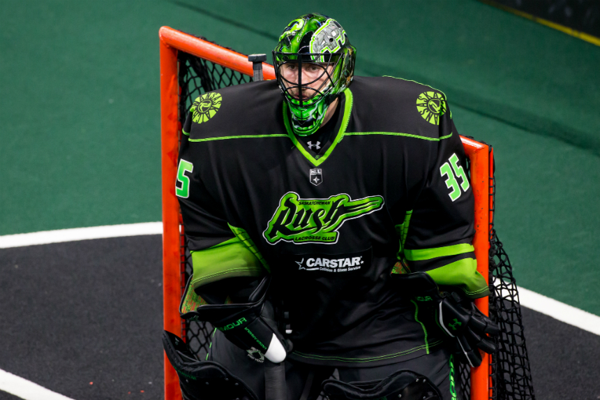 Heavy heart: Rush goaltender suits up for superhero night