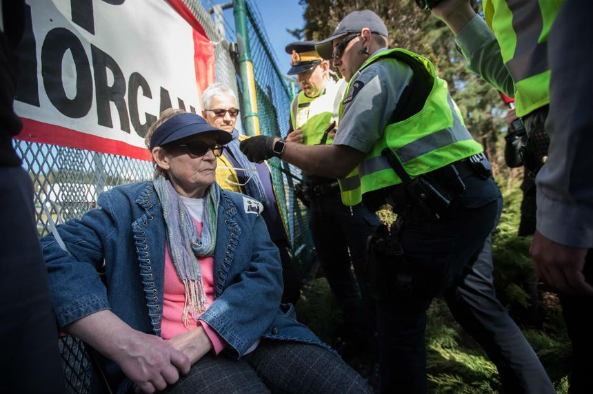RCMP move to arrest pipeline protesters at entrance to Trans Mountain work site