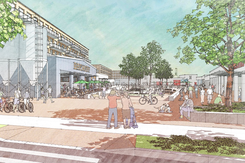 Downtown grocery store key to pitch for city yards purchase