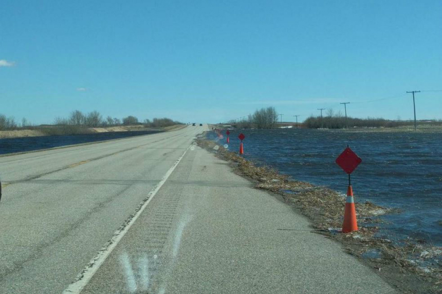 RCMP: High water levels on Highway 16 near Leslie