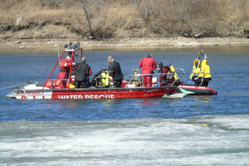 River search ends for person reported in distress