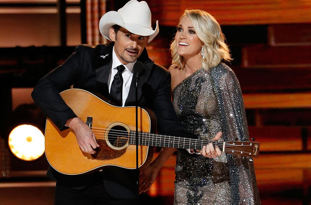 Brad Paisley and Carrie Underwood are back to co-host this year's CMA Awards