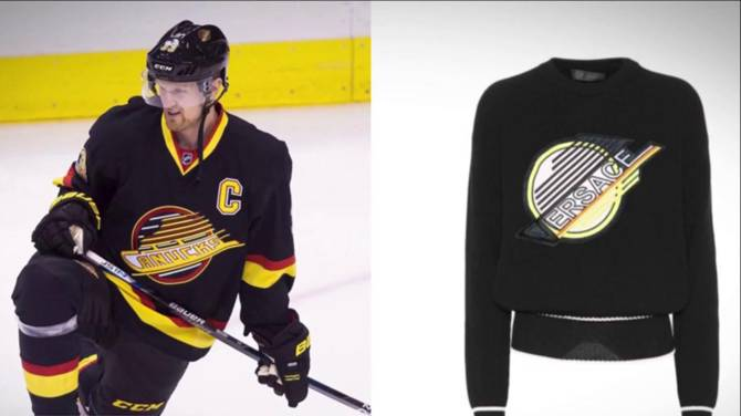 People Think Versace is Ripping Off The Canucks Skate Logo With This $1200(!!) Sweater