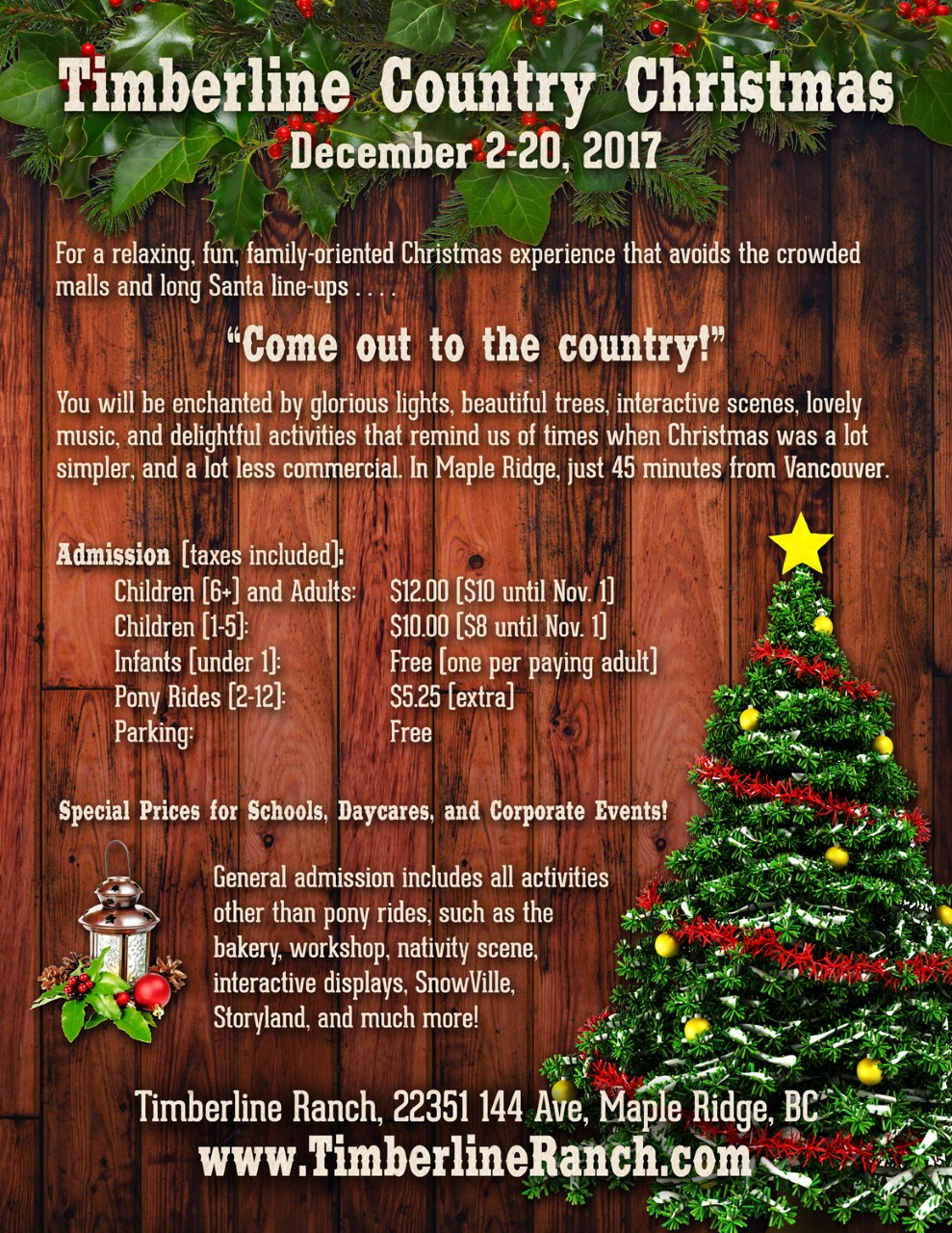 for the full event detais go to timberlinechristmasca - Free Country Christmas Music
