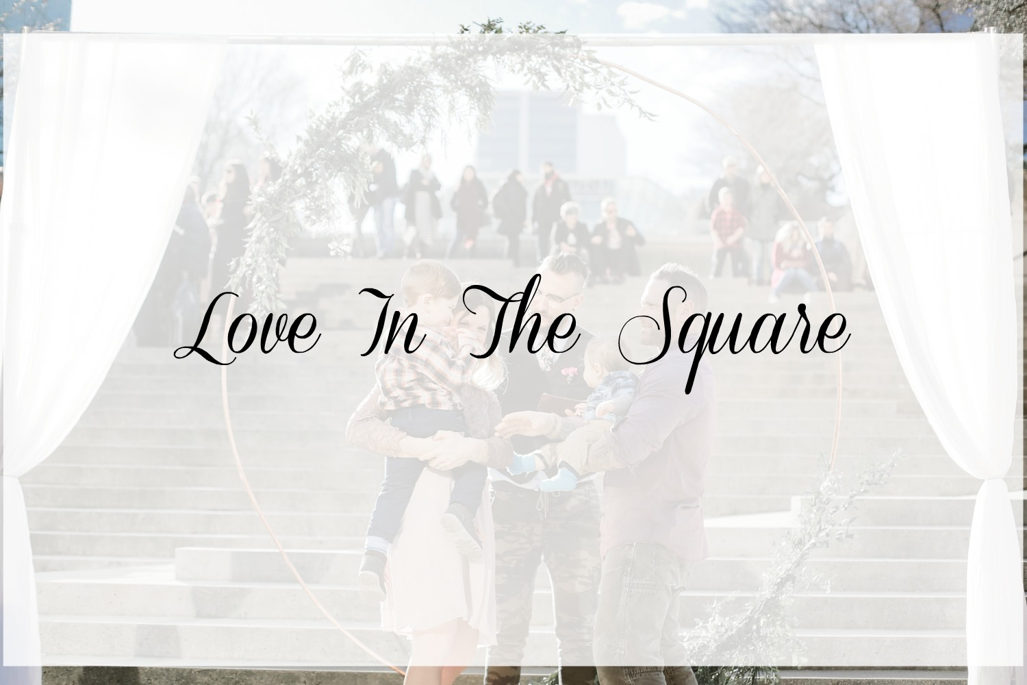 Have a pop up wedding at Robson Square this month!