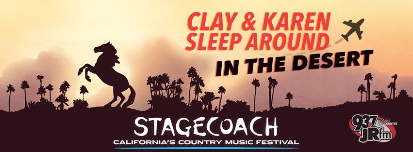 Clay & Karen Sleep Around In The Desert: come bunk down with us at STAGECOACH!