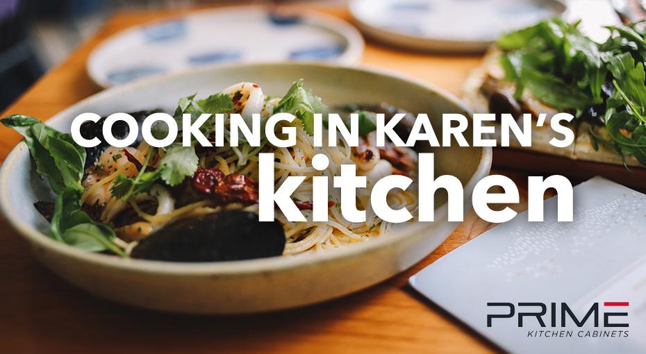 Cooking in Karen's Kitchen