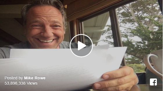 Watch Mike Rowe crack up reading HILARIOUS note from his mom!