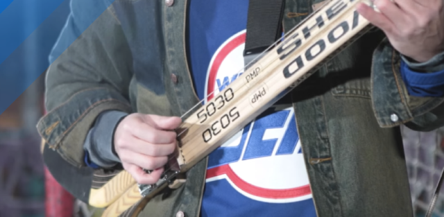 The Hockey Stick Guitar is a thing!