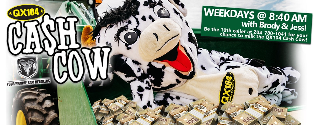 The Cash Cow is back! Listen weekday mornings!