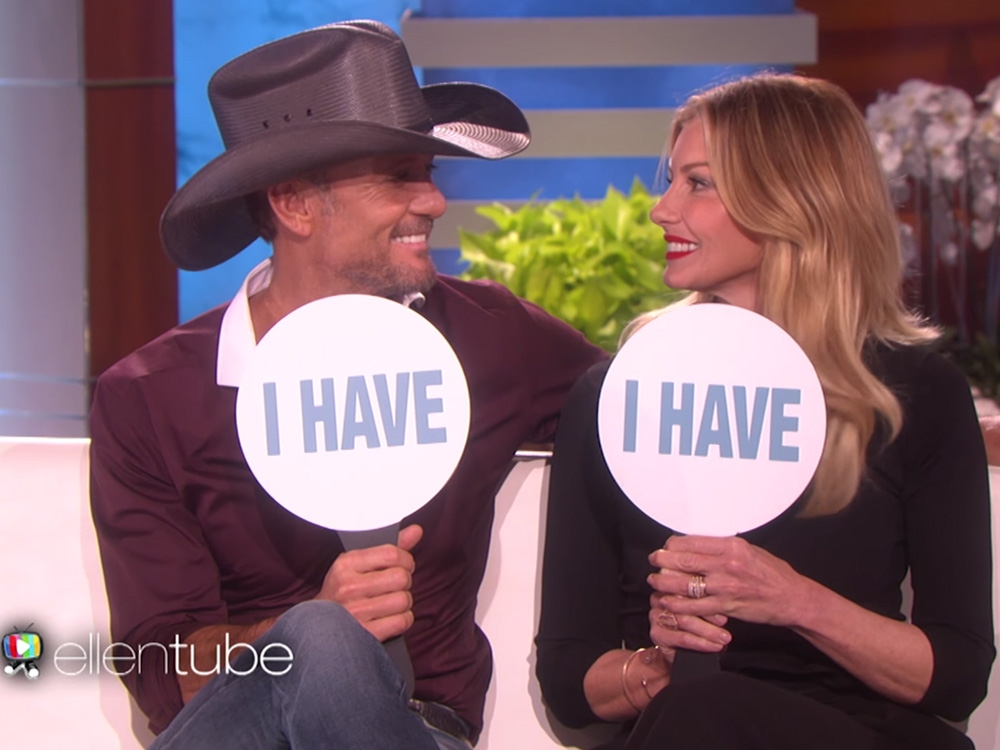 "Tim McGraw & Faith Hill play ""Never Have I Ever"""