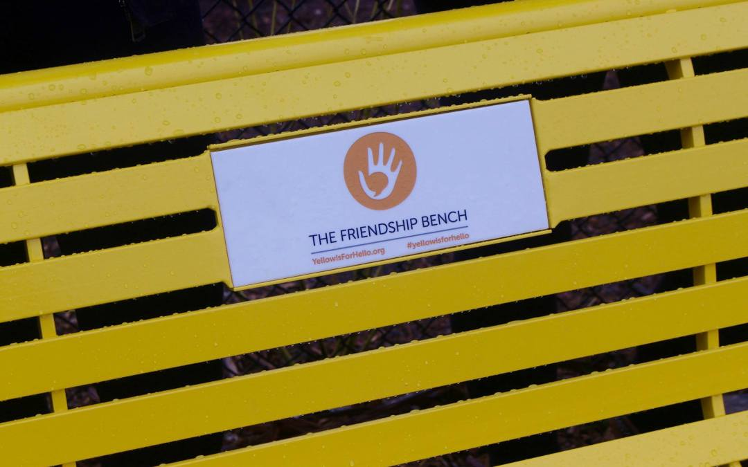 Let's sit down on this YELLOW  Bench and talk about Mental Illness!
