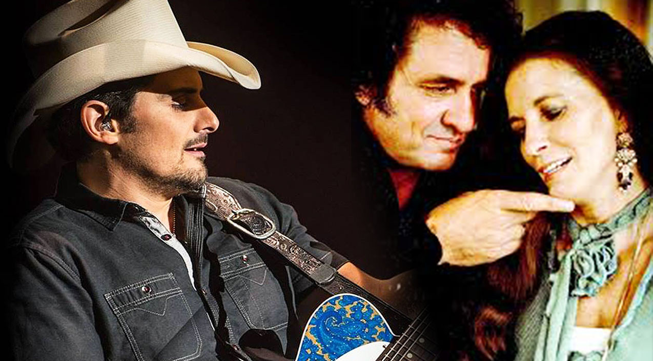 "Brad Paisley ""collaborates"" with Johnny Cash!"