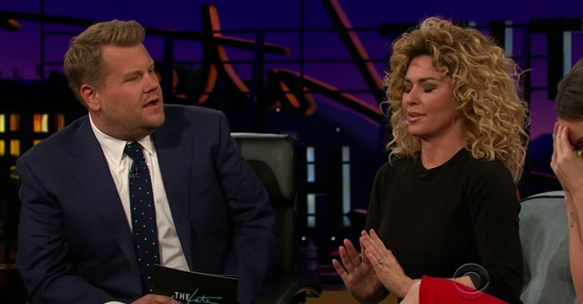 WATCH: Shania Shares Embarrassing Story on 'The Late Late Show'
