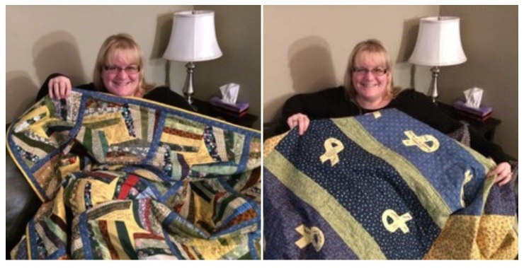 Sending comfort from home on a tour of duty...Carol's Comfort Quilt