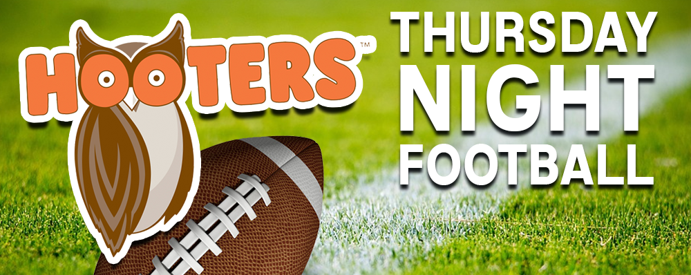 Join QX104 at Hooters Restaurant for TNF!