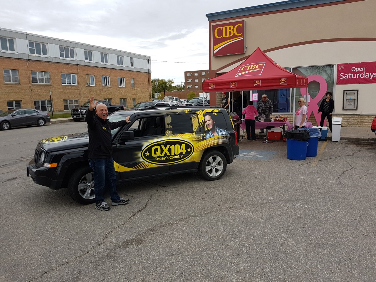 Lunch Friday on Selkirk's Main Street for CIBC's Run For a Cure!