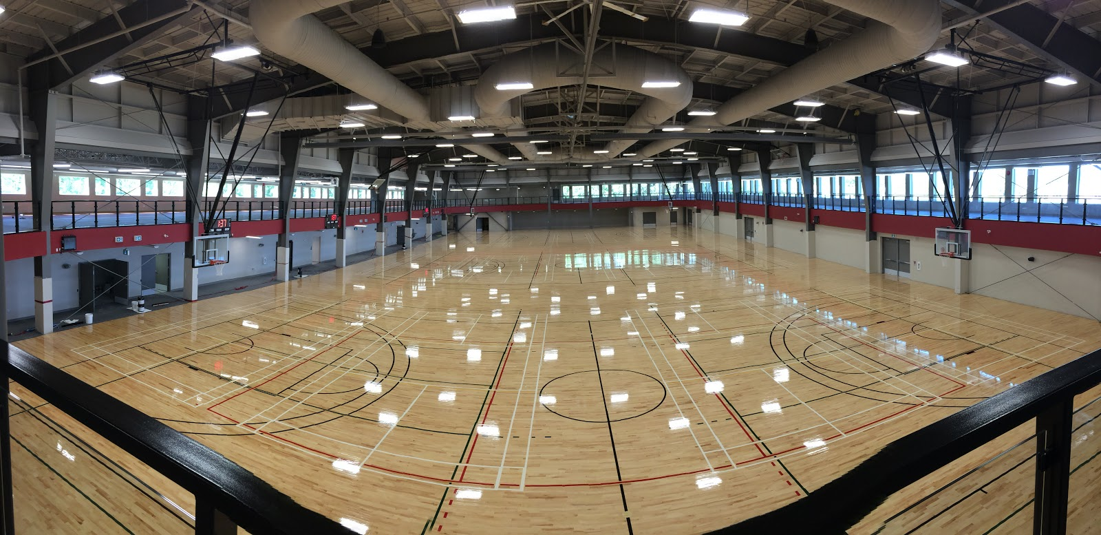 Millions invested in a beautiful new Field House , opening TODAY!