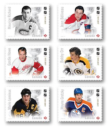 Canada Post Salutes Canada's Hockey Heroes!!