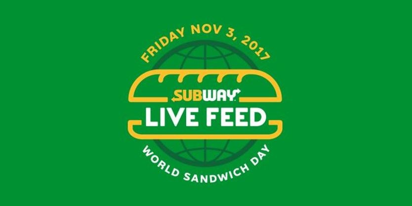 "Be part of SUBWAY's BIG , ""Feed The World Day"", Tomorrow!"