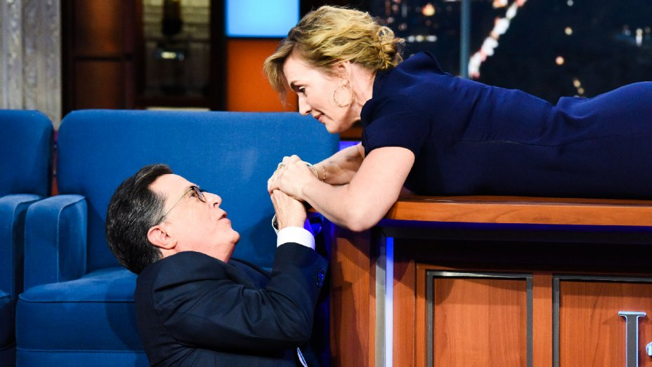 Kate Winslet And Stephen Colbert Fix The Ending To 'Titanic'!