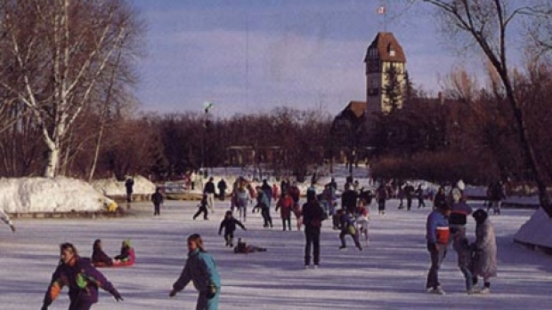 NO Ducks  but lots of Skaters !