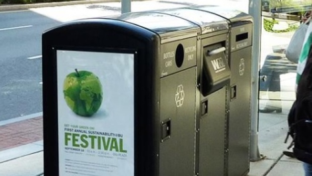 A Big Innovation.....SOLAR  Driven Garbage and Recycling Containers!