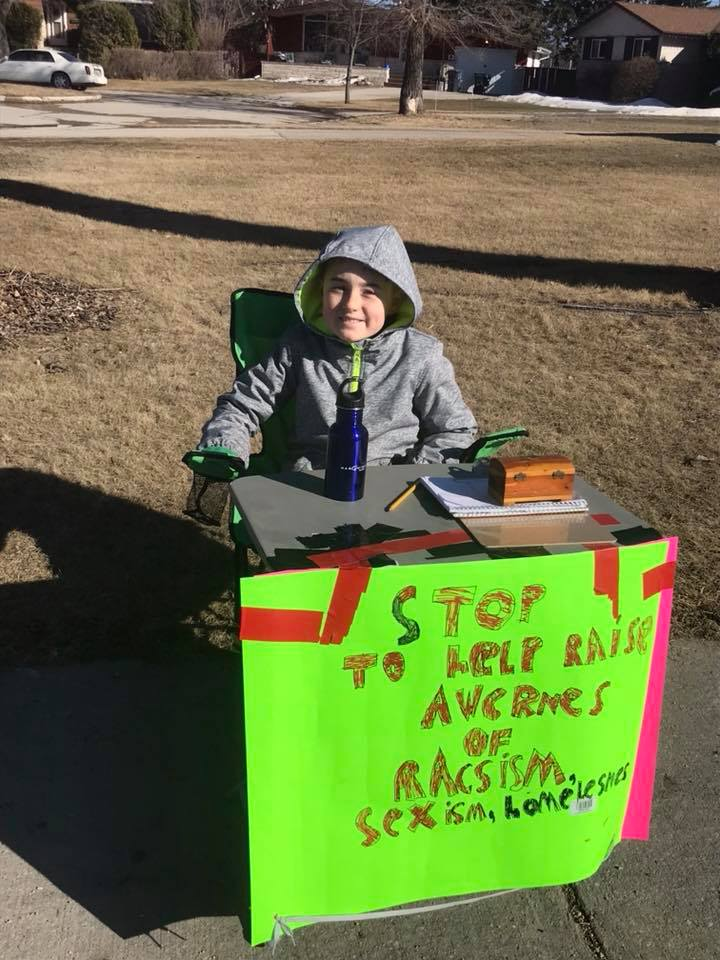 """""""People actually care!"""" - 10yr old Jayden Schritt on response to his """"More Kindness"""" campaign..."""