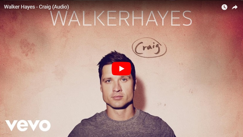 """New 2U at 2:02 April 27, 2018:  Would you add Walker Hayes """"Craig"""" to your personal playlist?"""