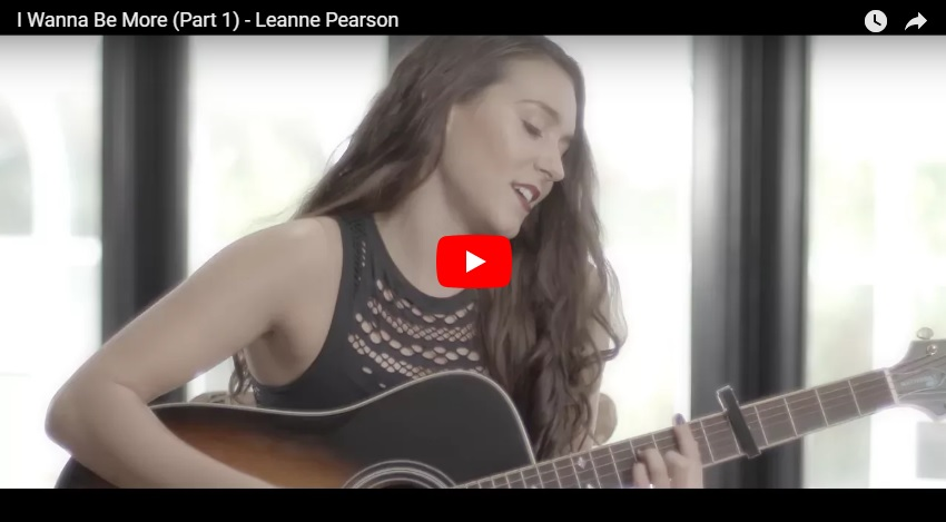 """New 2U at 2:02 May 2, 2018:  Would you add Leanne Pearson """"I Wanna Be More"""" to your personal playlist?"""