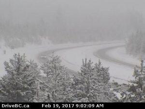 Fog + Snow= Drivers Beware!