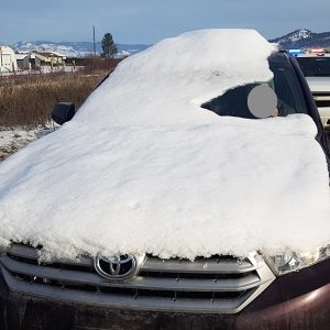 Snow Covered Vehicle Ticketed