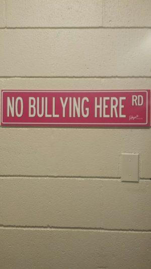No Bullying Sign!