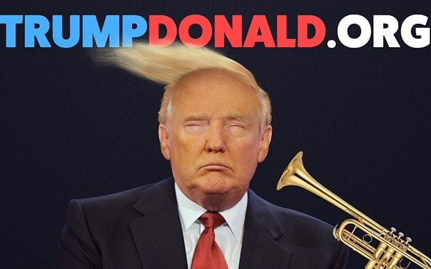 Wanna blow a horn in Trump's face?