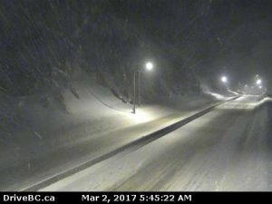 Snowfall Advisory Still in Effect for Coquihalla