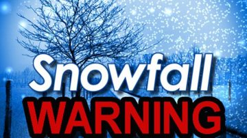 Another Snowfall Warning is Issued